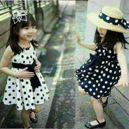 Vestido infantil de bolinha entrega gratuita em toda baixada