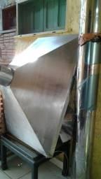 coifa inox de 110 x 80 cm...