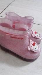 Galocha bota infantil n.19/20 Hello Kitty