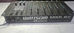 Mesa de Som Whattsom MXS 6ll c nota , Perfeito