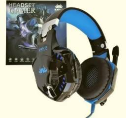 Fone  para game Headset Gamer Fone Led Knup Ps4 Xbox One Smartphone Kp-455a Promo54vis1006