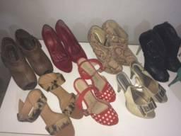 Lote com 13 sapatos