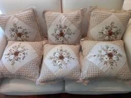 Conjunto almofadas crochet