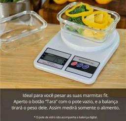 Balanca de Cozinha de Gramas Digital Alta Precisao 10Kg Dieta Emagrecimento C/ Pilhas
