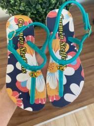 Lindas sandálias com traseira watts *