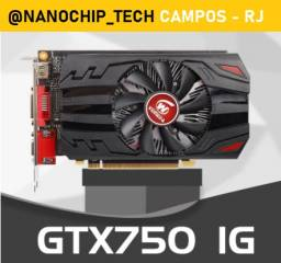 Placa de video GTX 750 1Gb Nova com garantia.