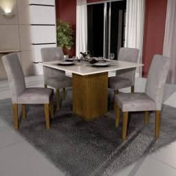 Promoção Jonathan Móveis Mesa 4 Cadeiras 100%MDF Entrega e Montagem Imediato Grátis