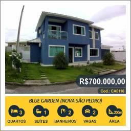 Título do anúncio: Casa com 3 quartos, 200 m², à venda por R$ 700.000