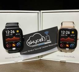 Smartwatch xiaomi Amazfit GTS preto e dourado