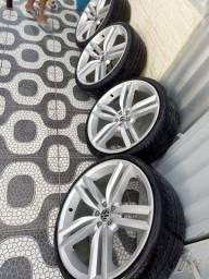 Jogo de roda aro 20 pneus novos