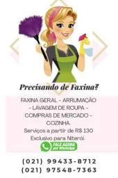 Serviços domésticos e faxinas
