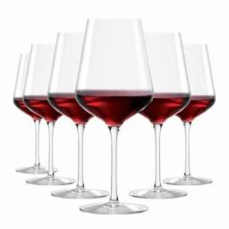 6 Taças vinho tinto cristal Ruvolo 540 ml