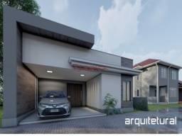 Casa linear, dentro de condomínio, com 3 quartos, sendo 1 suíte.