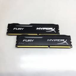 Memória HyperX Fury, 2 x 4GB, 1600MHz, DDR3