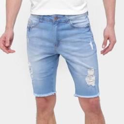 moda jeans bermudas masculina