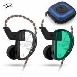 Fone de ouvido KZ AS06 3BA retorno de palco monitor
