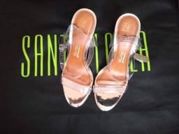 Sandáloa Prata Santa Lolla Cristal