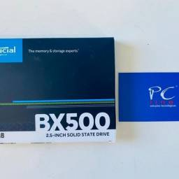 SSD Crucial BX500, 120GB, SATA, Leitura 540MB/s, Gravação 500MB/s
