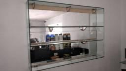 Estante prateleiras de vidro