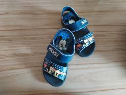 Sandália  Mickey n° 20/21 ( cor Azul)