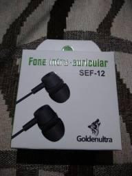 Fone de ouvido de Alta Qualidade Intra-auricular - SEF-12 GoldenUltra