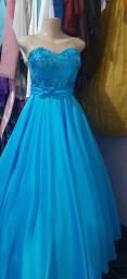 Vestido azul aluguel