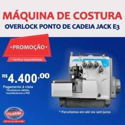 Máquina De Costura Industrial Overlock Ponto Cadeia E3 Jack ? Entrega grátis