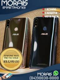 (Linha Asus) Zenfone Max Pro M2 64Gb (COR PRATA LACRADO+NOTA FISCAL)