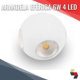 Arandela Luminária Focos 6w Branco Quente
