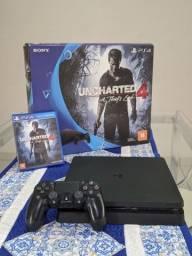 Playstation 4 slim + Jogo + 12x s/juros