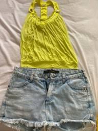 Conjunto a blusa p e o short número 50