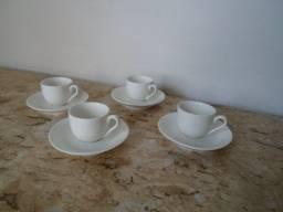 Xícaras para cafe porcelana 4 pecas