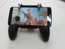 Suporte game pad  celular estilo controle de vídeo game com analógico e gatilho