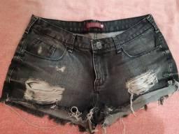 Short jeans escuro - preto