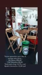 Kit mesa rustica (todos os itens da imagem estao com valores na foto)