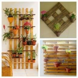 jardim vertical, prateleira plantas pinus/pallet/palete