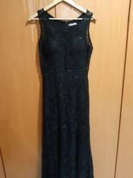 Vestido de Festa preto renda tipo sereia