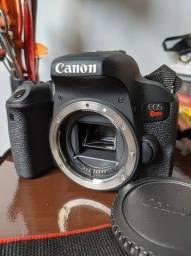 Câmera Canon t7i (apenas corpo) + Bateria com carregador