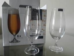 Jogo de Taças com 6 peças para Cerveja em Cristal - Bohemia - 380ml