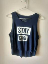 T Shirt Cropped Stay Cool