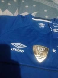 a8c637f417 Camisa Cruzeiro 2018 19   Oficial   Tamanho G