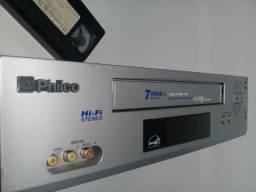 Videocassete marca Philco 7 cabeças com muito pouco uso, estado de novo