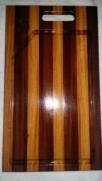 Tábua marchetada madeira maciça