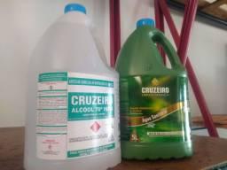 Kit Água Sanitária + Álcool Líquido 5L