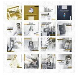 Compre 130 Artes Editáveis Para Mídias Sociais Para Contabilidade em Psd
