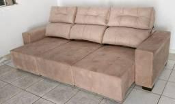 Sofá retrátil reclinável de 3 METROS