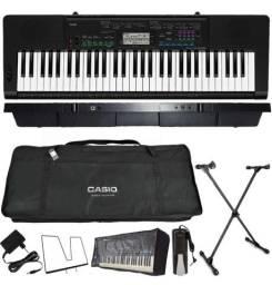 Teclado Casio Kit Teclado Musical 61 Teclas Ctk-3400 Sk + Sustain ( Novo Na Caixa ) )