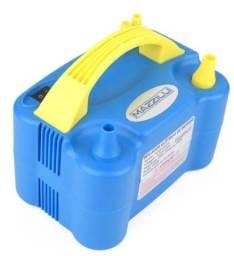Inflador elétrico azul x 12x R$ 15,99 x Entrega Grátis x Garantia 3 m