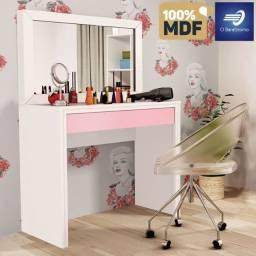 Penteadeira 100% MDF com 1 espelho e 1 gaveta #FreteGRÁTIS* #Garantia #Lacrado