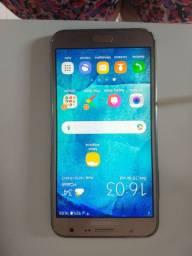 Vende-se celular Samsung J7 Dourado